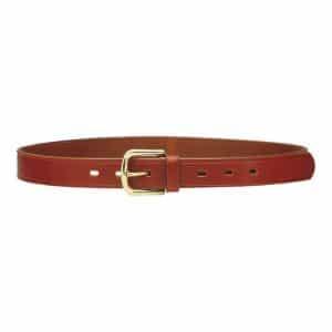 1C01 - Cintura in cuoio ingrassato con fibbia in ottone - h 3 cm |